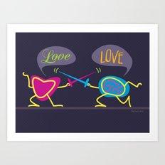 Love is a Battlefield Art Print