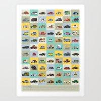 Star Cars Art Print