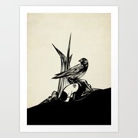 Crows must never win Art Print