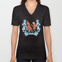 Flame Princess In Love Unisex V-Neck