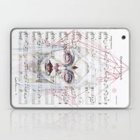 Queen of Diamonds on sheet music Laptop & iPad Skin