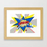 SUPERDAD Framed Art Print