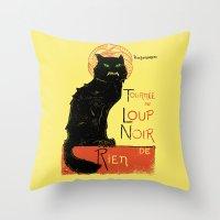 Loup Noir Throw Pillow