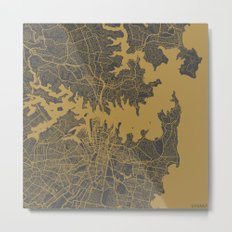 Sydney - Ocher Metal Print