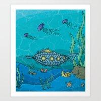 Nautilus Under The Sea Art Print