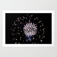 Fireworks In Harrison Ho… Art Print