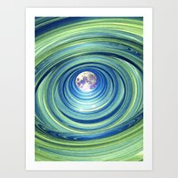 Moon Lights Art Print