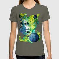 Evelin Green (Set) By Ca… Womens Fitted Tee Lieutenant SMALL