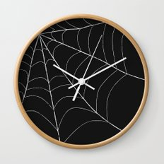 SPIDERWEB SPOOKNESS Wall Clock