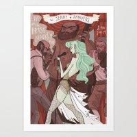 The Jenny Hanivers Gig P… Art Print