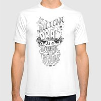 All I Can Draw Mens Fitted Tee White SMALL