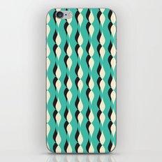 turquoise petal lines  iPhone & iPod Skin