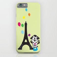 Puppy selfie in PARIS iPhone 6 Slim Case