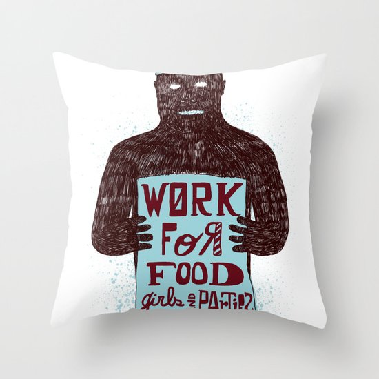 Work For Throw Pillow