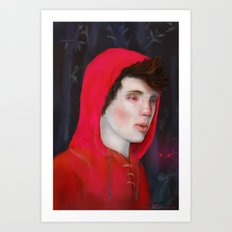 A Red Night Art Print