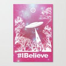 #Ibelieve UFO Canvas Print