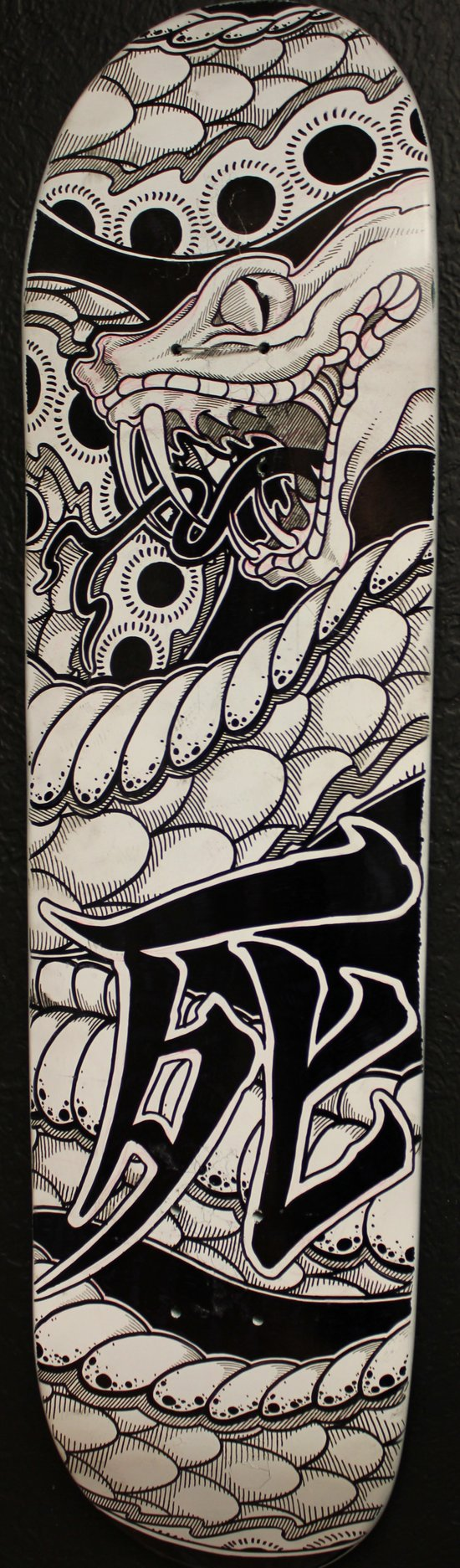 Death snake skateboard Art Print