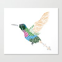 Abstract Hummingbird ~ Garnet-throated Variant Canvas Print