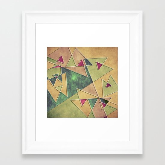 Earth Geometry Framed Art Print