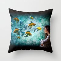 Ocean Deep Dreaming Throw Pillow