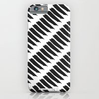 iPhone & iPod Case featuring Black and White Tiger Stripes by Pencil Me In ™