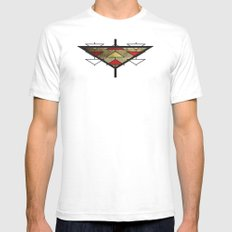 Navajo Arrows Mens Fitted Tee White SMALL