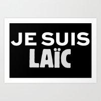 Je Suis Laïc Art Print