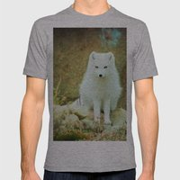 Snow fox Mens Fitted Tee Athletic Grey SMALL