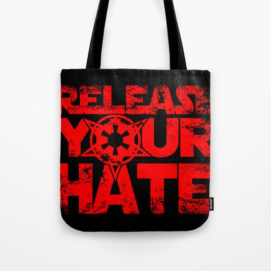 """""""Release Your Hate""""-Darth Vader Tote Bag"""