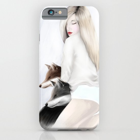 women_fox iPhone & iPod Case