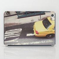 one way taxi:: nyc iPad Case