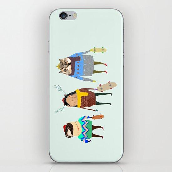 Skateboarders. iPhone & iPod Skin