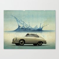 Deep Water Porsche Canvas Print