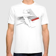 Malevich 3D [B&W] Mens Fitted Tee SMALL White