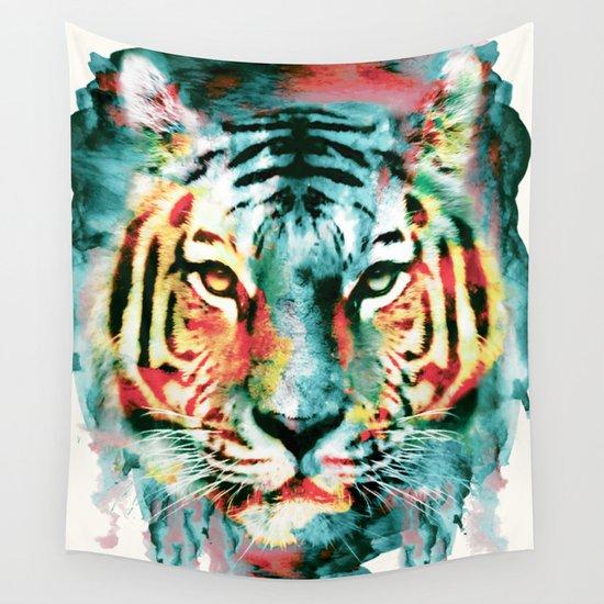 Tiger Wall Tapestry By Riza Peker Society6