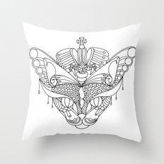Colouring Canvas - The Queen's cat. Throw Pillow