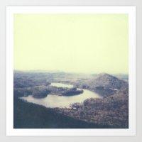 Ocoee River Polaroid Art Print