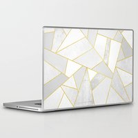 Laptop Skins featuring White Stone by Elisabeth Fredriksson