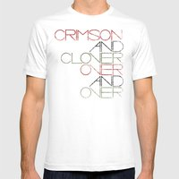 Crimson And Clover Over … Mens Fitted Tee White SMALL