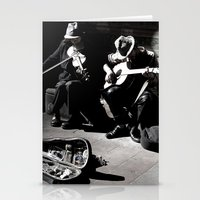Street Musicians Stationery Cards