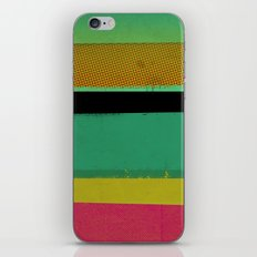 Stripes on Aqua iPhone & iPod Skin