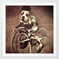 Francis Bacon Bicycle Bully Art Print