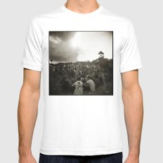 { festival } White Mens Fitted Tee SMALL