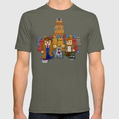 8bit Doctor who vs dalek iPhone 4 4s 5 5c 6, pillow case, mugs and tshirt Mens Fitted Tee Lieutenant SMALL