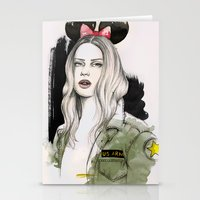 Army Girl Stationery Cards