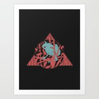 NightCroaking Art Print