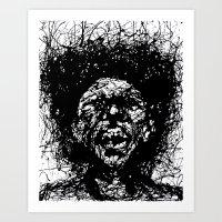Drip Face Art Print