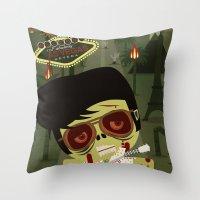 Elvis Zombie Throw Pillow