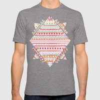 NATIVE BANDANA Mens Fitted Tee Tri-Grey SMALL