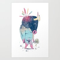 Mr.Minotaur Art Print